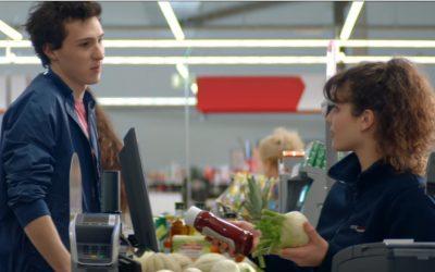 Amoureux au supermarché