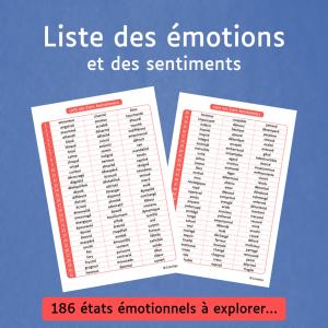 Liste des émotions et des sentiments