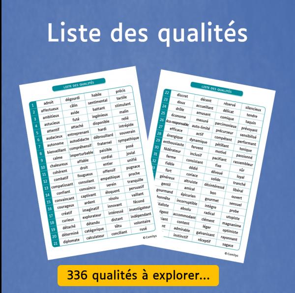 Liste des qualités Comitys